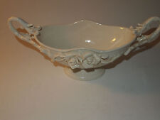 Peppertree Tabletops White Porcelain Rosalie Fruit Bowl Floral Design Roses