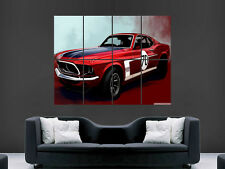 FORD MUSTANG CLASSIC CAR POSTER USA WALL ART PICTURE LARGE GIANT MUSCLECAR