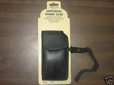 PHONE CASE UNIVERSAL LEATHER WITH STRAP BLACK NEW RARE