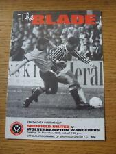07/11/1989 Sheffield United V Wolverhampton Wanderers [ZENITH Data Systems CUP]