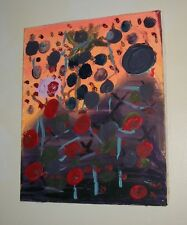OIL ORIGINAL FLOWERS GALORE Modern Painting Very Collectible