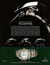 ROLEX OYSTER Perpetual Watch ADVERT - 2008 Advertisement