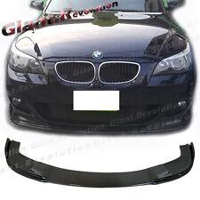 Carbon Fiber Front Spoiler Lip H Look BMW 04-10 E60 E61 525i 535i M Sport Bumper