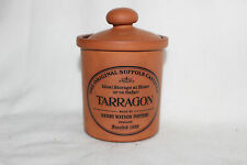 Henry Watson Pottery The Original Suffolk Canister for Tarragon in Terracotta