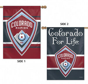 """Colorado Rapids Double Sided MLS House Flag Licensed Soccer 28"""" X 40"""""""