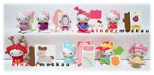 NEU Komplettsatz -- 8 Varianten Figuren und BPZ Hello Kitty Kinder Joy Russland