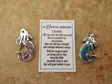 Ganz Mermaid Pocket Charm ~ Token & Card ~ Strength Courage Magic Wishes