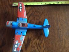 Vintage Hubley Kiddie Toy Airplane Fighter Bomber Toy Model 495