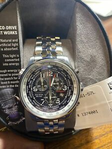 Citizen Eco-Drive Chronograph Stainless Steel Men's Watch - AT0361-57L