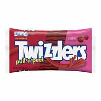 TWIZZLERS CHERRY LICORICE TWISTS, 14 ounce bag, CHEWY CANDY, (PULL N' PEEL)