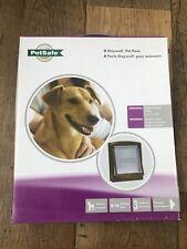 Medium Pet Flap Petsafe Cat Dog Door BROWN 2 Way Access