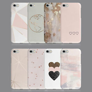 PINK MARBLE ROSE GOLD HEARTS PHONE CASE FOR IPHONE 7 8 XS XR SAMSUNG S8 S9 PLUS