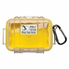 Peli Micro Case 1010 transparent mit gelber Gummieinlage Outdoorkoffer NEU