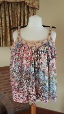 LADIES PEACH MIX BEADED VEST LOSE TOP FROM NEXT SIZE 12 14 SUMMER