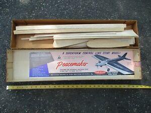 Vintage balsa wood model airplane wing kit