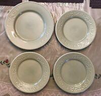 Vintage Matceramica Plates Made in Portugal Set of 4 Embossed Design