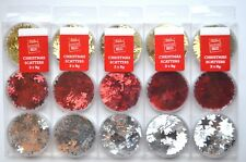 Christmas Confetti e Scatters  Xmas Party Gift Table Decoration Red Gold Silver