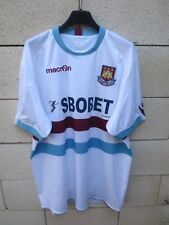 Maillot WEST HAM UNITED 2011 MACRON away football shirt Sbobet jersey maglia XL