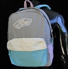 Vans Skate Co. Realm Gray/Purple/Blue colors Mens Unisex Backpack School Bag
