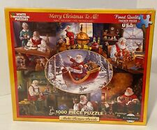 White Mountain 1000 Piece Merry Christmas To All! Jigsaw Puzzle- NEW Sealed