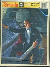 """DRACULA Frame-Tray Puzzle (1991) Golden Press 12-pieces 8"""" x 10-1/2"""""""