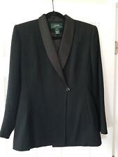 Ralph Lauren Ladies Wool Tuxedo Style Jacket Wool  Size 4  Green Label