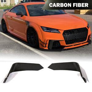 Fit for Audi TTRS 2016-2018 Fog Light Splitter Front Bumper Fins Carbon Fiber