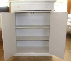 Shoe Cabinet With 2 Door And 1 Drawer, Shoe Shelf White Lacquered