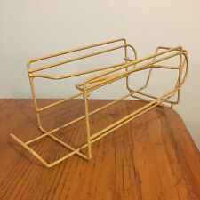 New listing Vtg Gold Rubber Coated Wire Soda or Beer Can Refrigerator Dispenser Organizer