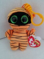 df3856a32c6 Ty Beanie Boo Key Chain Mask the Mummy with Glitter Eyes NWT