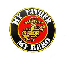 My Father My Hero USMC Marine Corps Military Embroidered Patch Iron Sew BSPM0956