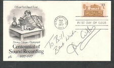 Scott 1705 Sound Recording Artcraft FDC cover signed by Gene Cotton music