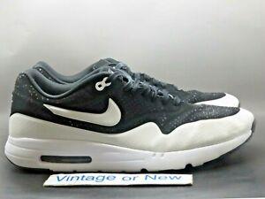 Nike Air Max 1 Ultra Moire Black White 2014 Running Shoes 705297-001 sz 14