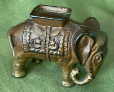 "Antique Cast Iron Bank (A.C. Williams) ""Elephant with Howdah"""