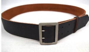 WWII German Vintage Officer DOUBLE CLAW Black Wehrmacht Belt