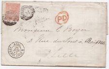 Nº 1867 = 46 = 46 = Double chiffre London 4d Verm PLAQUE 8 Leete & Baillon en France
