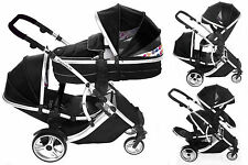 Duellette21 CB /BS  Double Pushchair Twin pram Newborn carrycot toddler tandem
