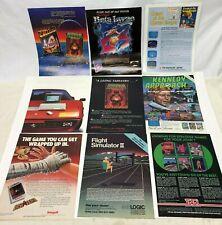 Vintage computer print ad Exodus Ultima MicroProse Flight Simulator Atari 1040St