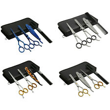 Professional Barber Hair Cutting Thinning Scissors Shears Kit Salon Hairdressing