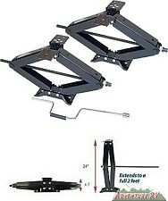 "RV Trailer Camper Scissor Stabilizer Jacks 6500 LB Pound 24"" Lifetime Warranty"