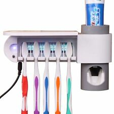 Sterilizer Toothbrush Holder Cleaner Automatic Toothpaste Dispenser Antibacteria
