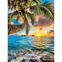 5D Full Drill Diamond Painting Coconut Tree Cross Stitch Kit Home Decor Art Gift