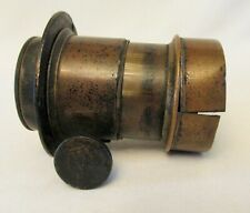 Early unmarked Brass Large Format Rack & Pinion Focus Camera Lens