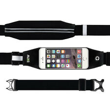 "Riñonera Bandolera Impermeable Running Iphone Samsung Smartphone Negro 5.5"""
