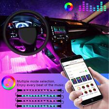 4x LED RGB Auto Lichtleiste Innenraumbeleuchtung Ambientebeleuchtung Set APP 12V
