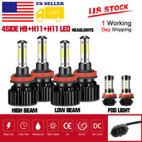 For Nissan Altima 2007-2018 LED Headlight High Low Fog Light H9 + H11 Combo Kit