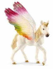 Miniature Dollhouse Fairy Garden - Winged Rainbow Unicorn - Accessories