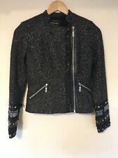 River Island Black And Gold Wool Jacket Size UK 6