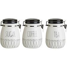 Premier Housewares Heartlines Tea Canister Dolomite White