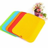 Non Slip Silicone Placemat Silicone Counter Mat Glass Coaster Kitchen Tools